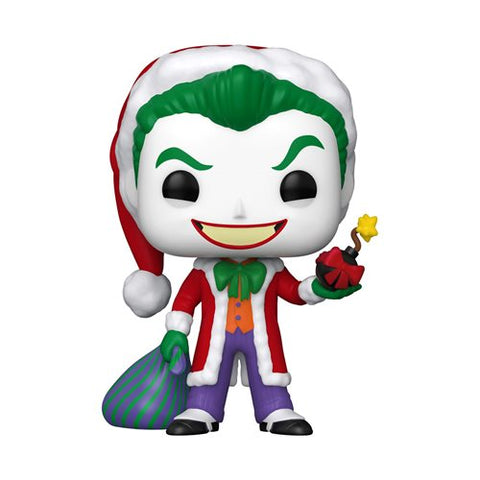 DC Holiday Santa Joker Pop!