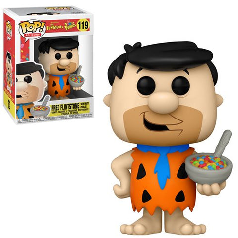 Fruity Pebbles Fred Flintstone with Cereal Funko Pop!