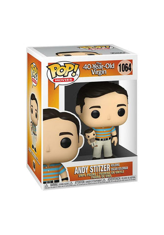40-Year-Old Virgin Andy Holding Oscar Funko Pop!