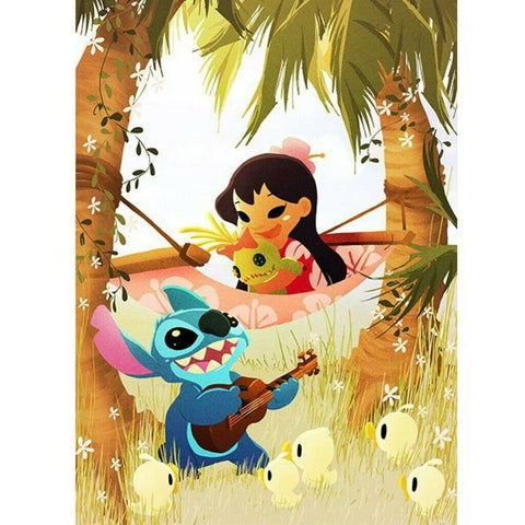 Diamond Painting Lilo et Stitch 30x40