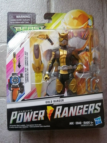 Saban Power Rangers Beast Morphers Gold Ranger 6""
