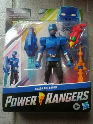 Power Rangers Beast Morphers Beast-X Blue Ranger 6 Pouces