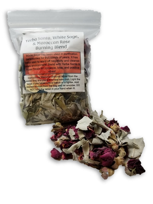YERBA SANTA, WHITE SAGE, & MOROCCAN ROSE BURNING BLEND