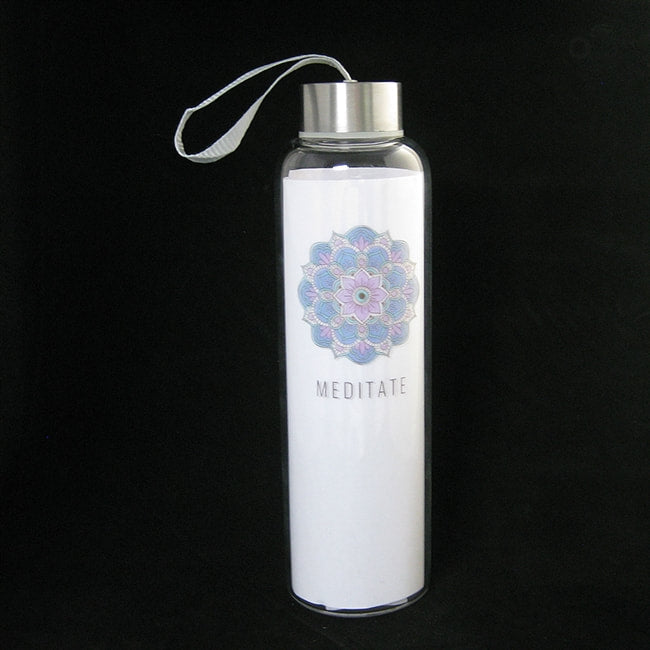MEDITATE GLASS WATER BOTTLE
