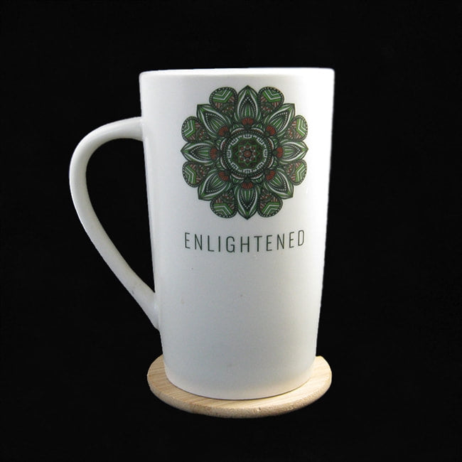 ENLIGHTENED CERAMIC MUG W/ BAMBOO COASTER