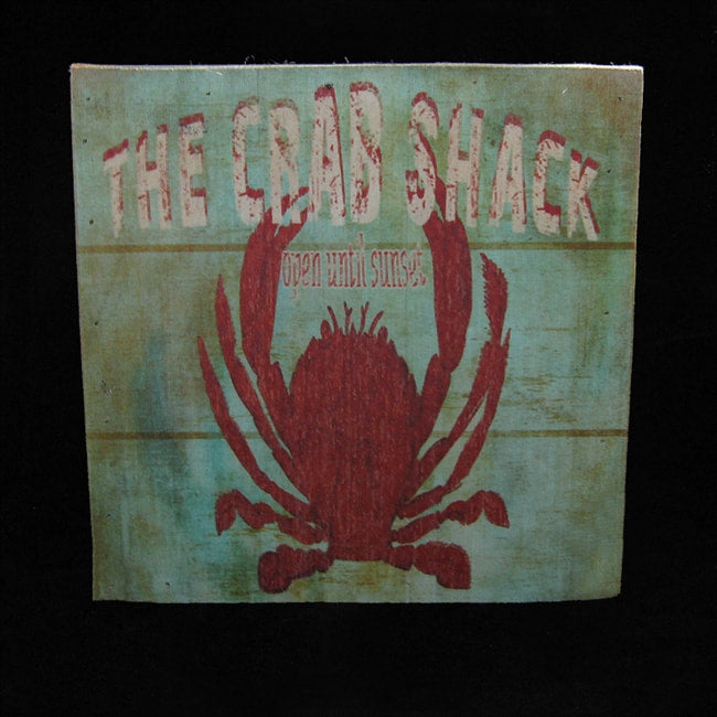 CRAB SHACK WOODEN SIGN