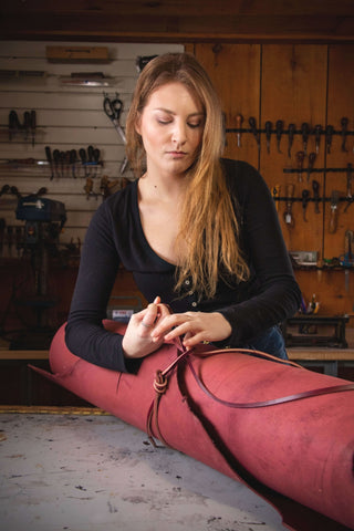 Sadelmager leather shop toronto sustainable ethical leather fashion made in Canada Leather Company style small batch artisan handcrafted satchel messenger bag purse handbag