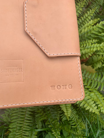 custom stamping name dossier personalized leather shop toronto