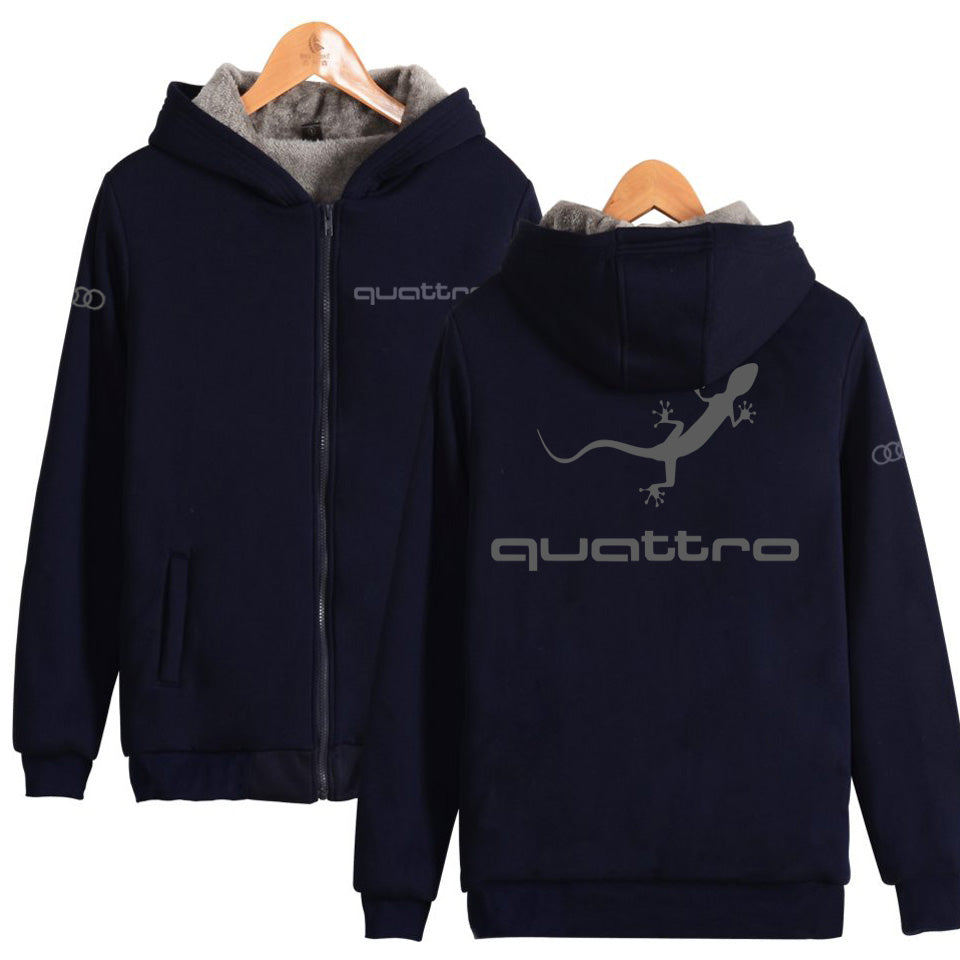 Audi Quattro Zip-Up Heavyweight Hoodie