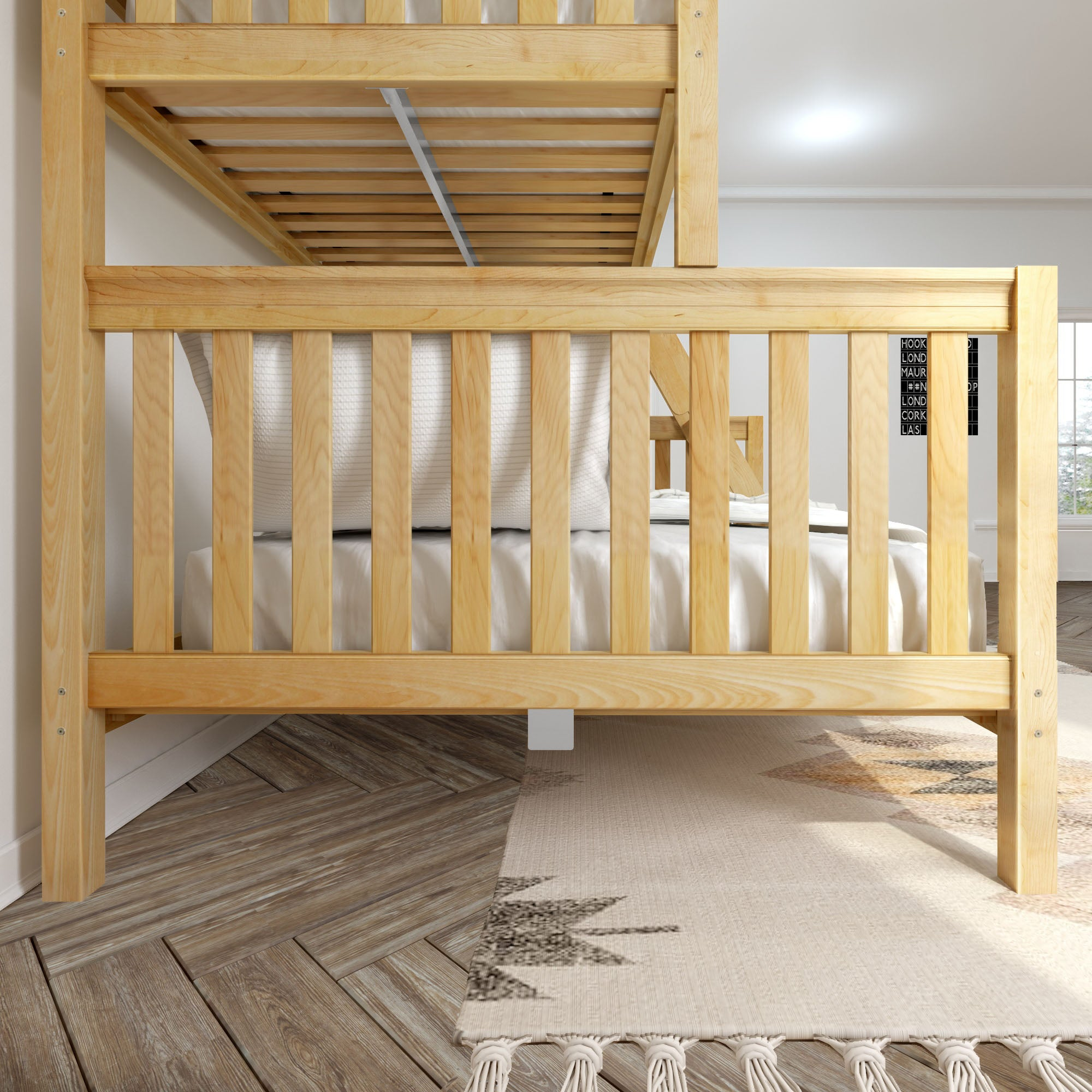High Twin Xl Over Queen Bunk Bed With Ladder Maxwood Furniture