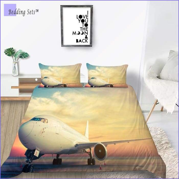 Airplane Bedding - on the Apron