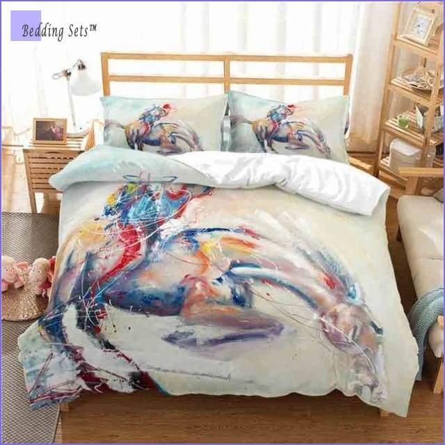 Artistic Horse Bedding Set