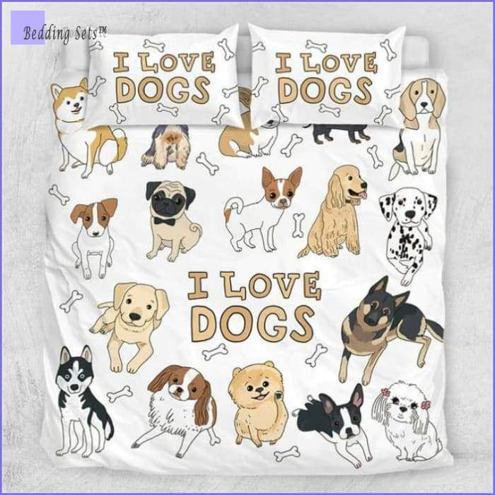 Bedding Set I Love Dogs