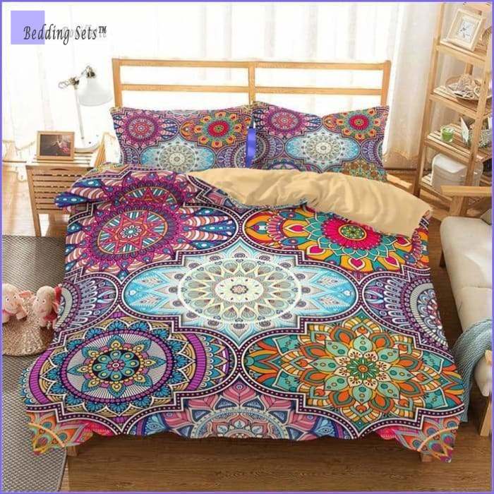 Boho Bed Set - Colorful Mosaic