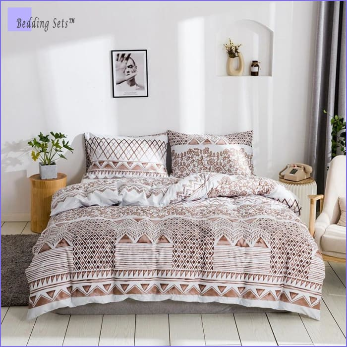 Boho Bed Set - Elegant Stripes