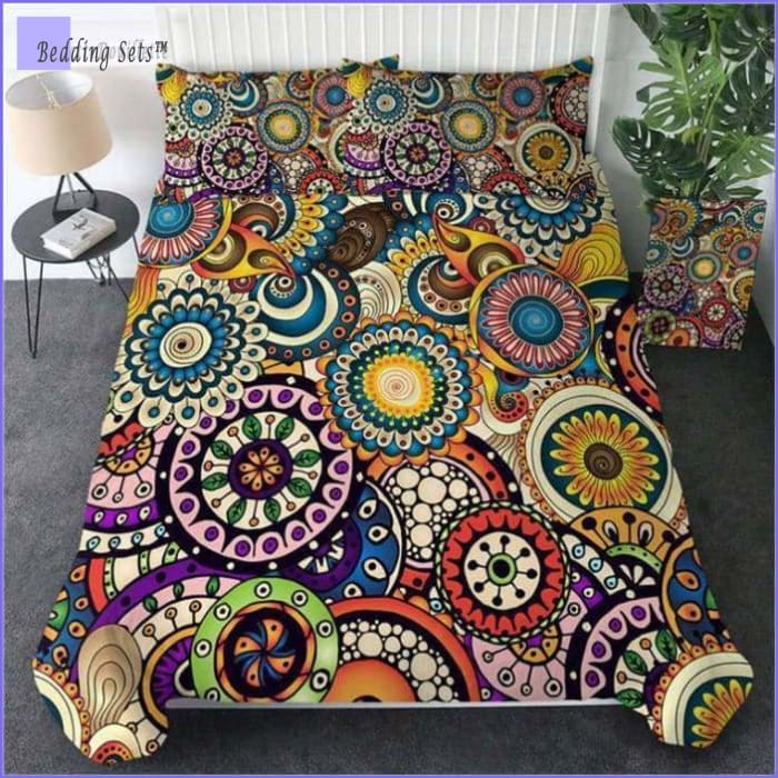Boho Bed Set Hippie & Flower