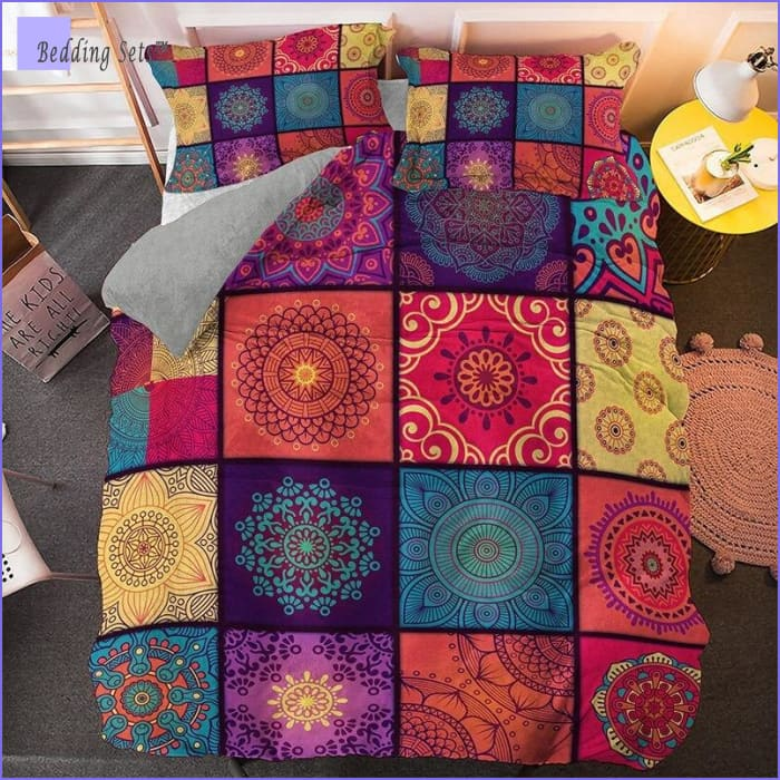 Boho Bedding Set - Colorful Mozaic