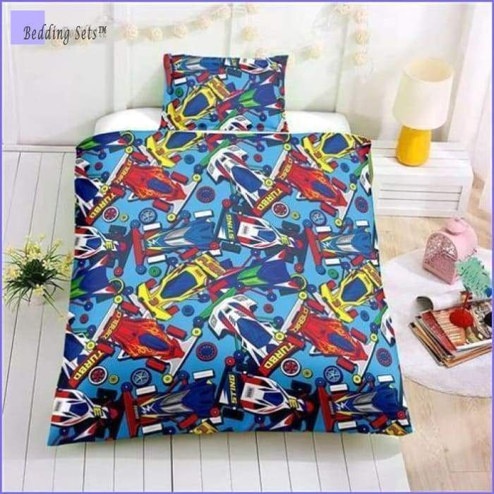 Boy Race Car Bedding