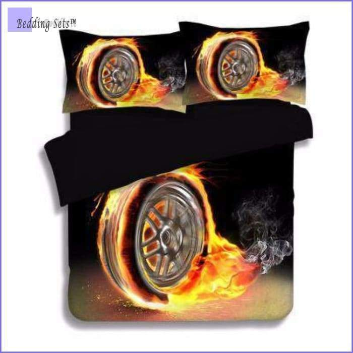 Car Bedding - Flaming wheel