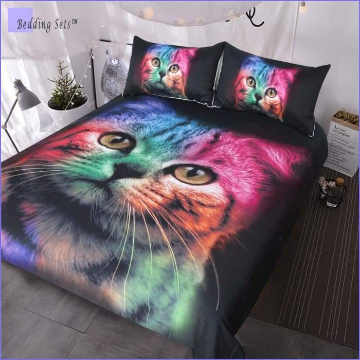 Cat head Bedding - Multicolor