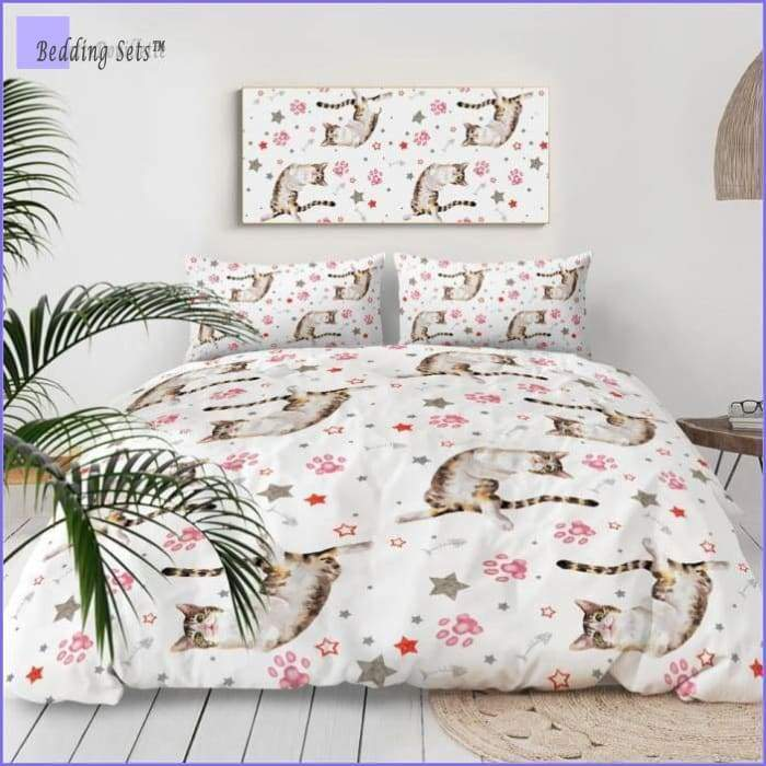 Cat printed Bedding