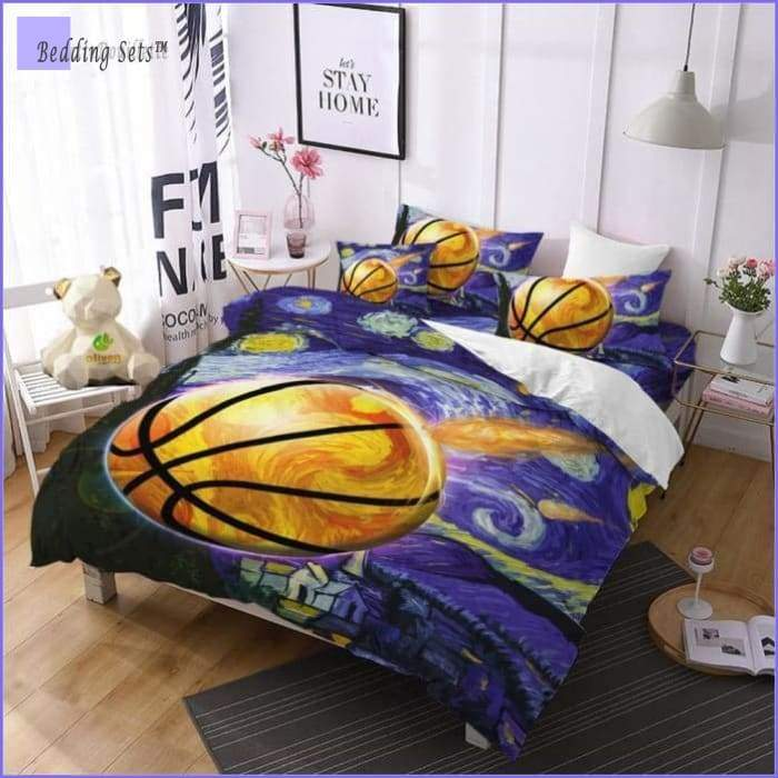 Child Painting Basketball Bed Set