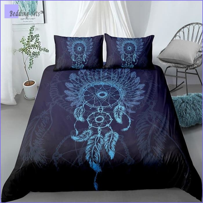 Deep Blue Dream Catcher Bedding