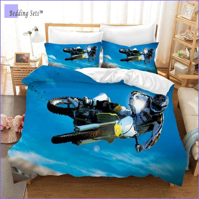 Dirt Bike Bedding - Aerial