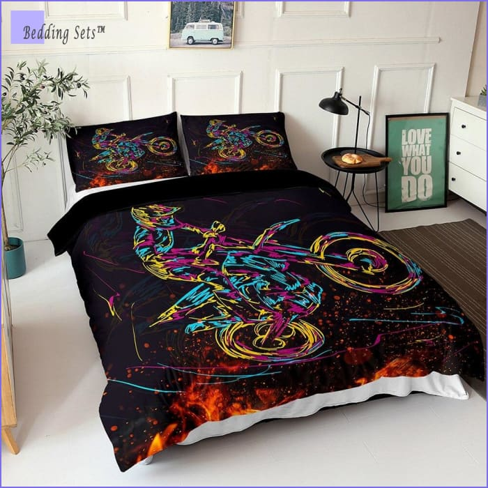 Dirt Bike Bedding - Glow