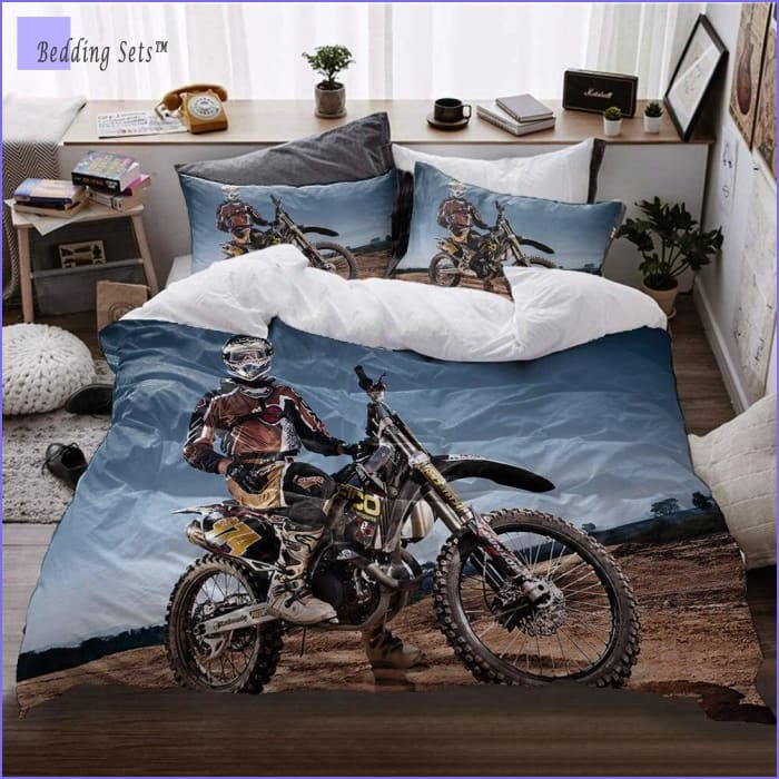 Dirt Bike Bedding - Victory Picture