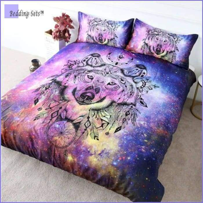Dream Catcher Bedding - Native American Wolf
