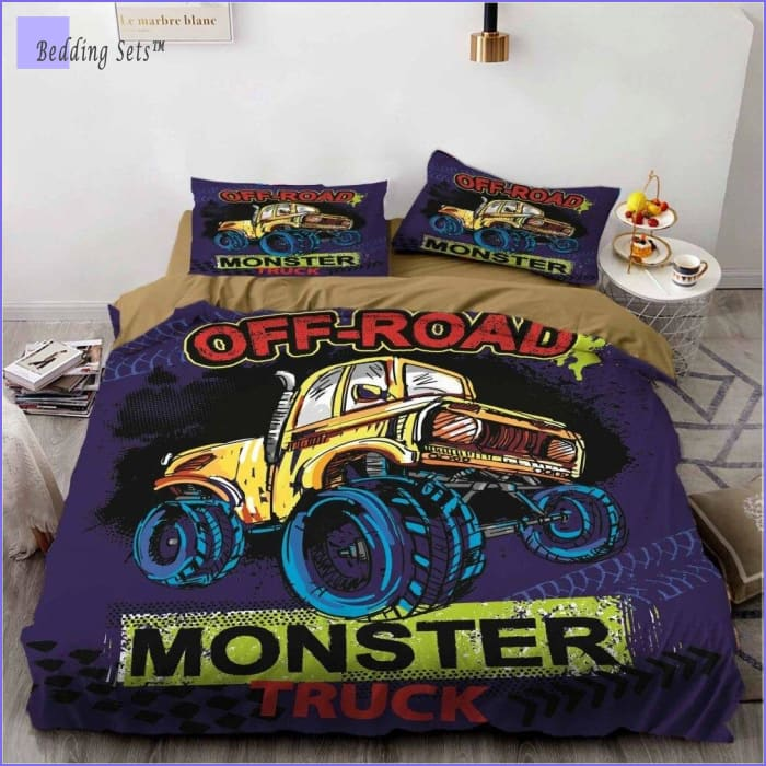 Full Size Monster Truck Bedding