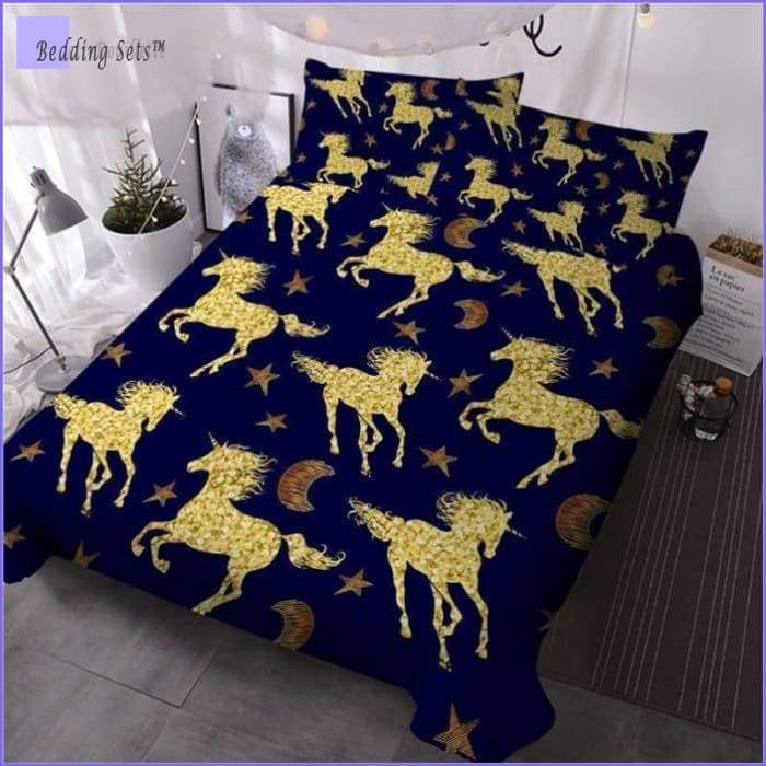 Golden Horses Bedding Set