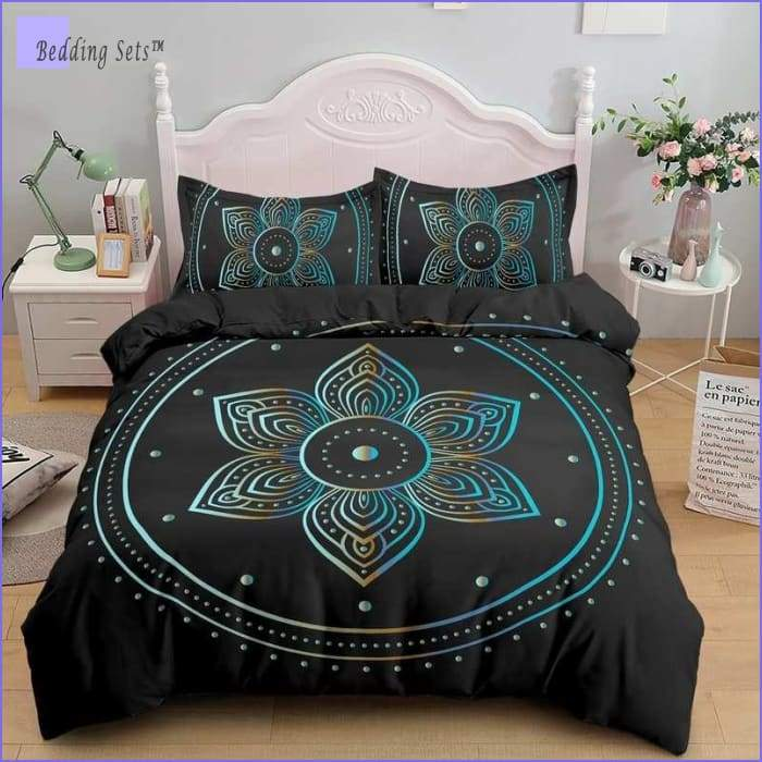 Hippie Bedding - Black Lily