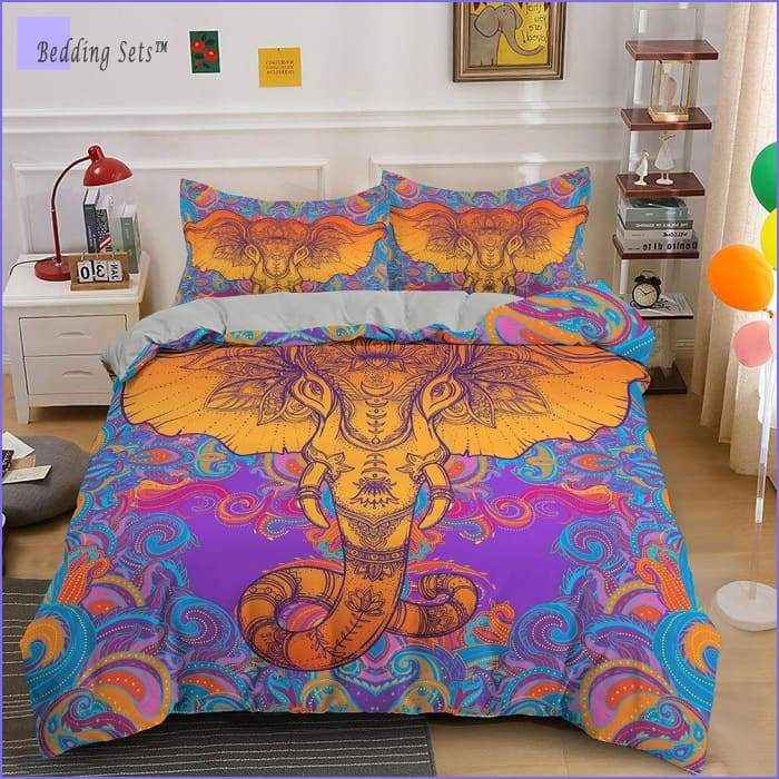 Hippie Bedding - Psychedelic Elephant