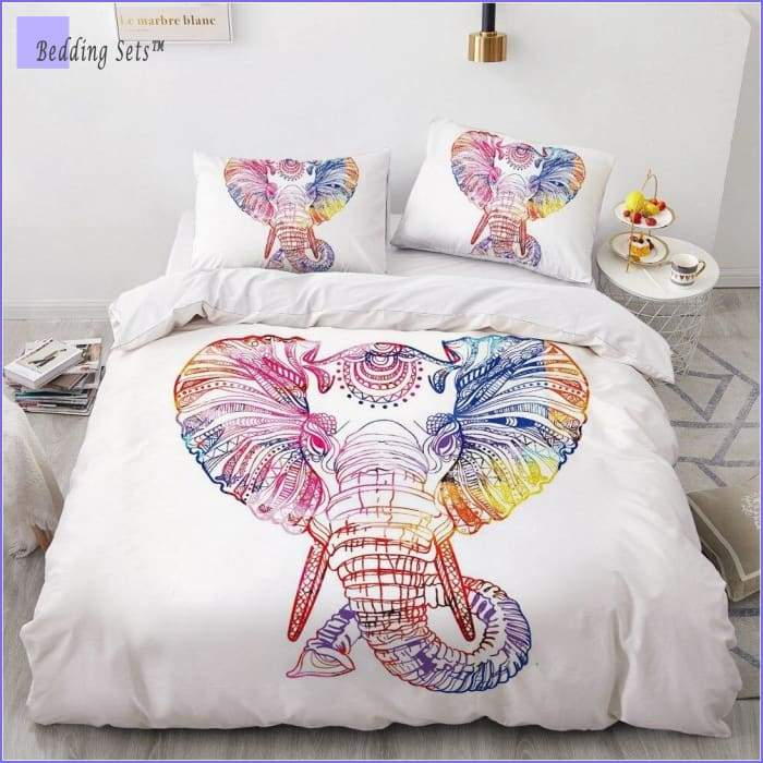 Hippie Bedding - Rainbow Elephant