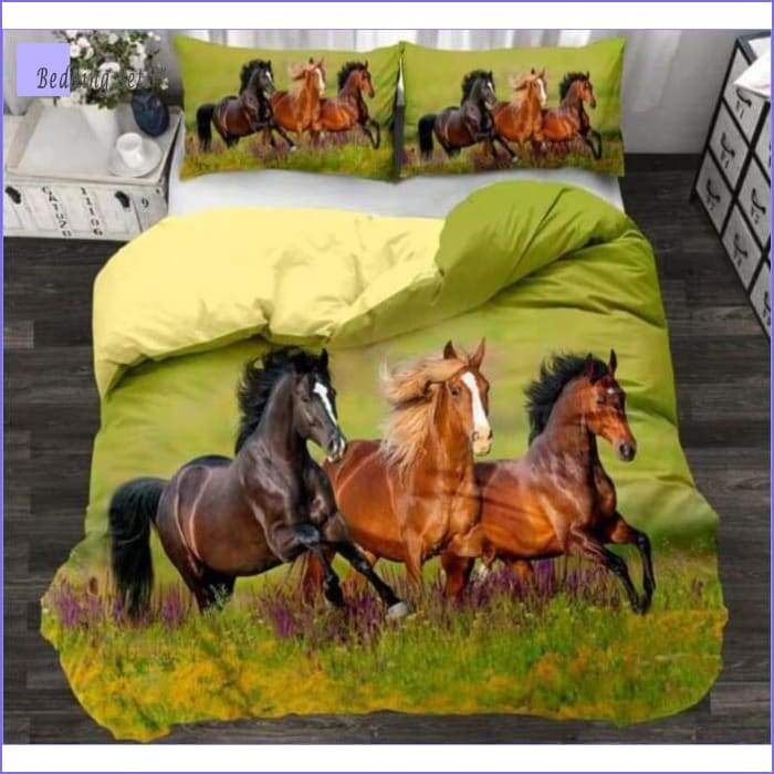 Bedding Set Horses in Grassland - Bedding-Store™