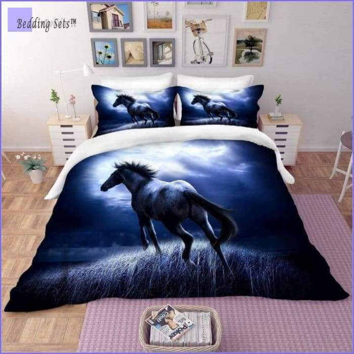 Horse Bedding Set - in the Night - Bedding-Sets™