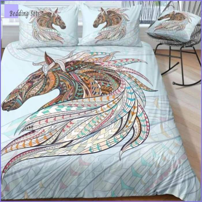 Horse Comforter Bedding Set - Bedding-Sets™