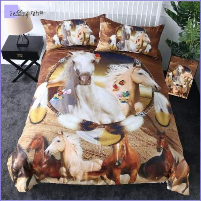 Dreamcatcher Horse Dream Catcher Bedding Set -