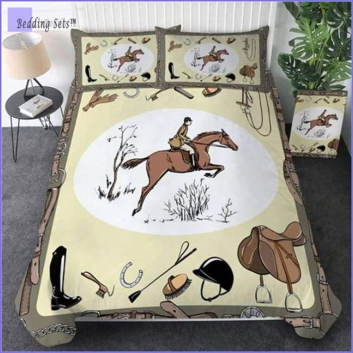Horseback riding Bedding Set - Bedding-Sets™