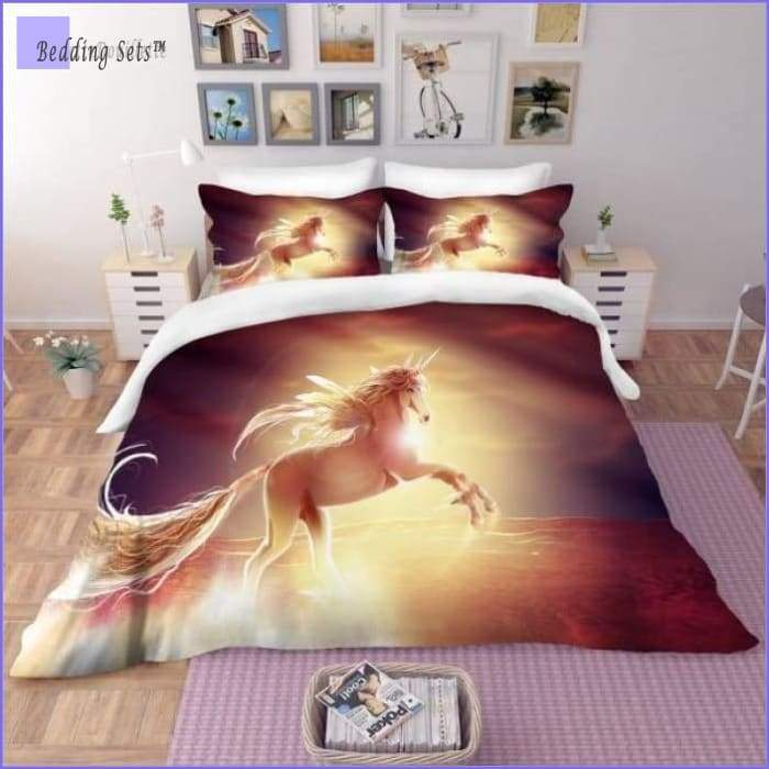 Magic Horse Bedding Set - Sunset - Bedding-Sets™