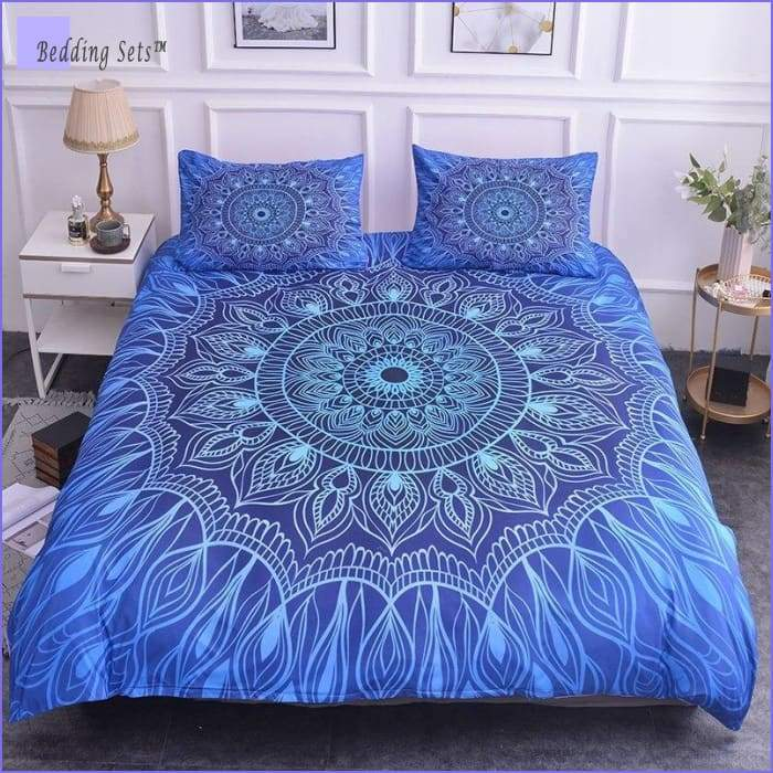 Mandala Bedding - Blue Fire