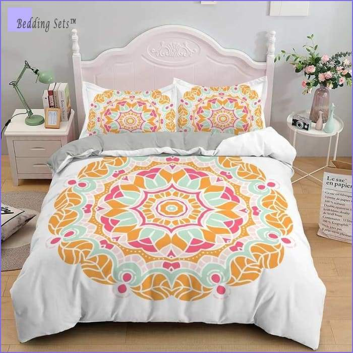 Mandala Bedding - Golden Leafs