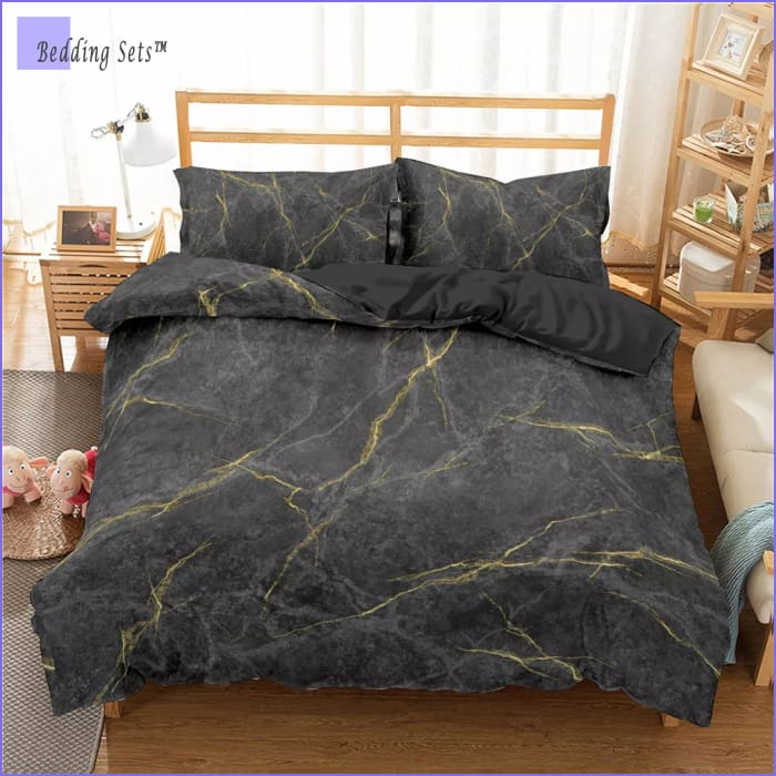 Marble Bed Set - Raw Gold
