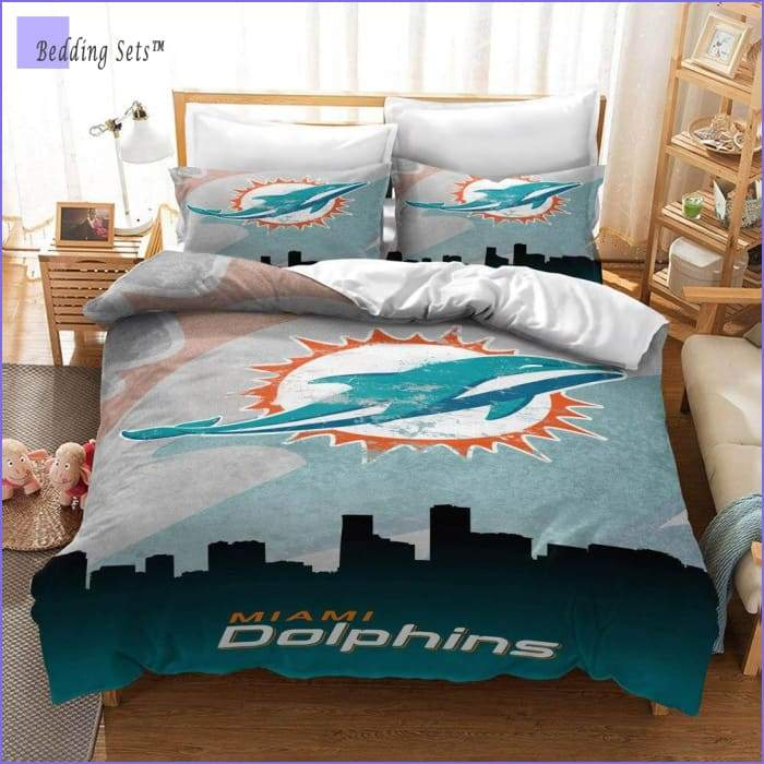 Miami Dolphins Bedding Set - Bedding-Sets™