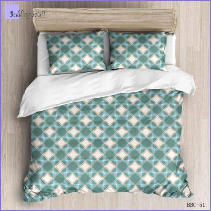 Modern Bedding Set - Grid Pattern