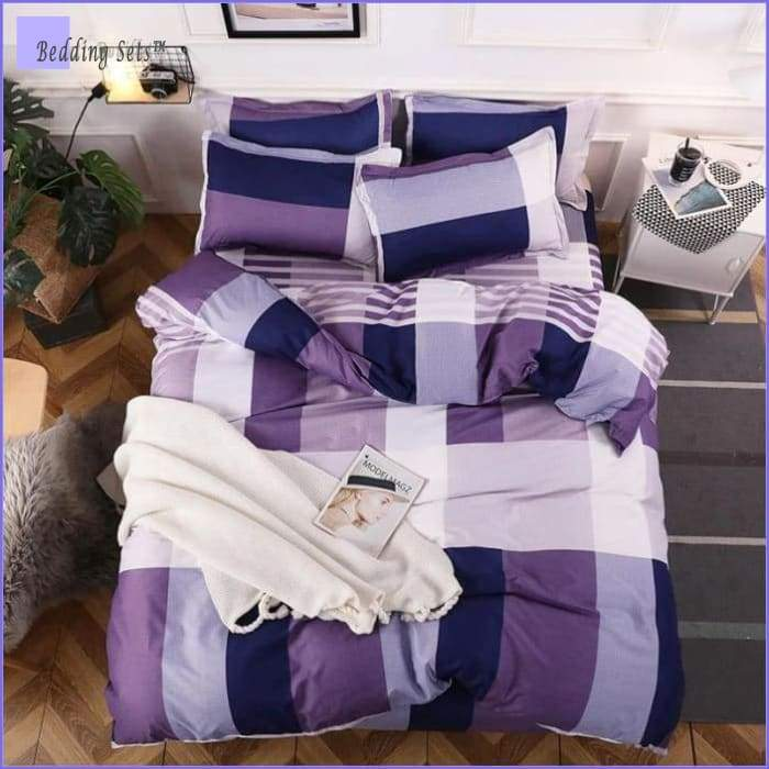 Modern Bedding Set - Purple