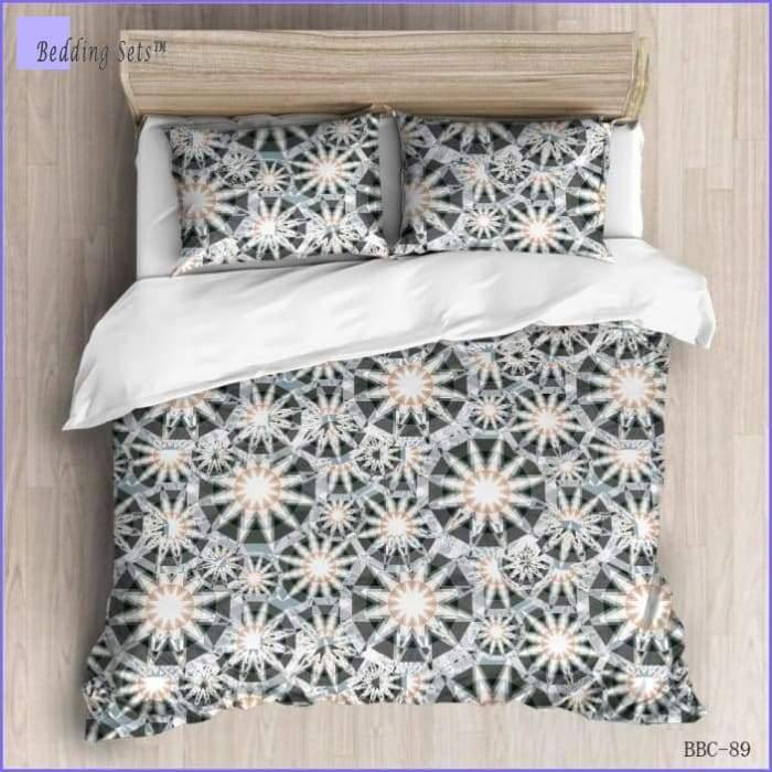 Modern Bedding Set - White Crystals