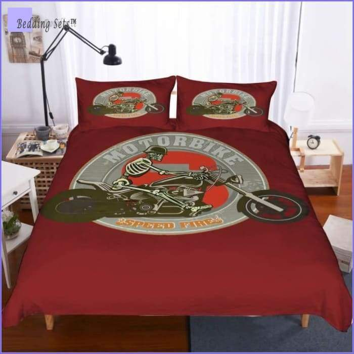 Motorbike Bedding Set - Speed Fire